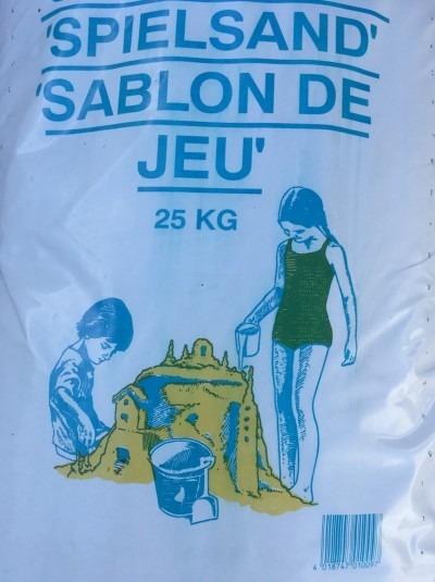 Spielsand 25 kg
